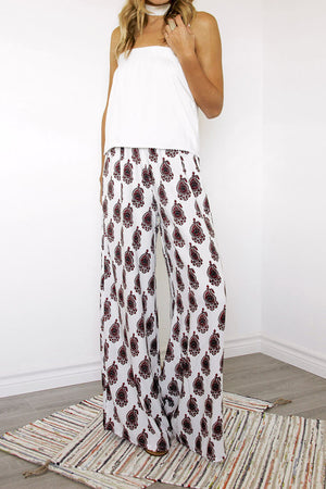 Santorini Strapless Top and Havana Wide Leg Pants - Sololu