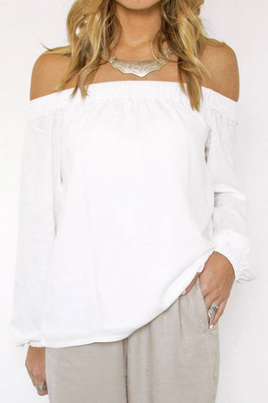 Santorini Off the Shoulder Top - Sololu