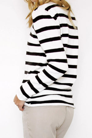 Tofino Striped Knit Sweater - Sololu