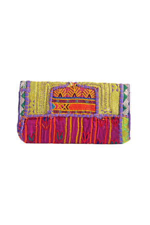 Sona Bohemian Banjara Vintage Shoulder Bag as Clutch Back - Sololu