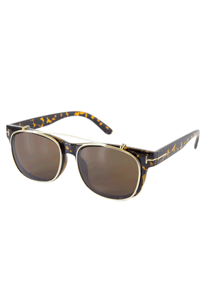 Tortoise Vintage Inspired Sunglasses Side - Sololu