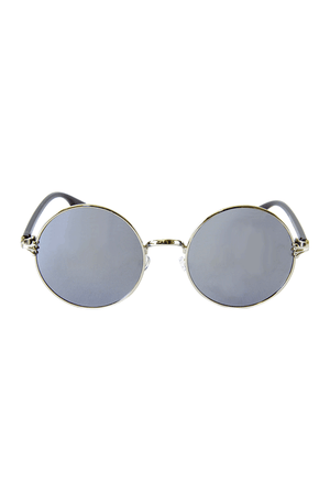 Vintage Inspired Round Sunglasses Silver Lenses - Sololu