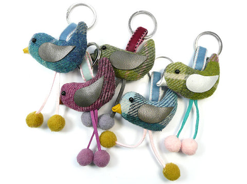 Bird Keyring - Tweed