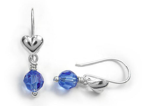 Birthstone Earrings - September Sapphire