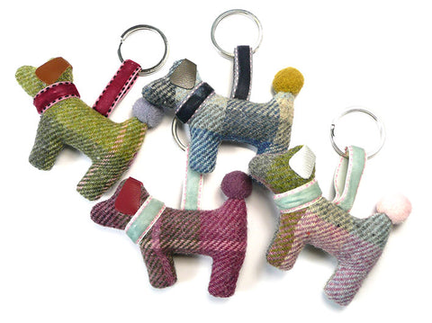 Dog Keyring - Cloudburst Tweed