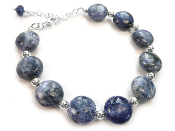Gemstone Bracelet - Sodalite and Crystal