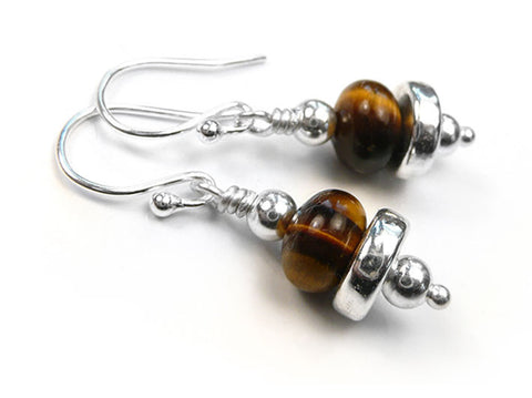 Gemstone Earrings - Tiger Eye