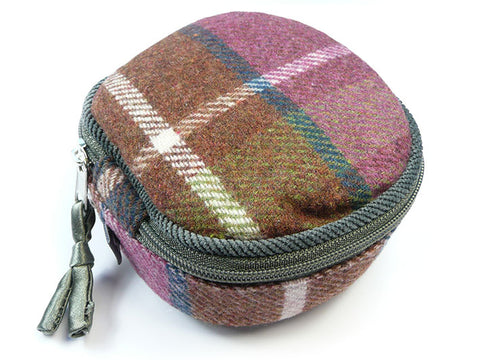 Jewellery Pouch - Damson Tweed