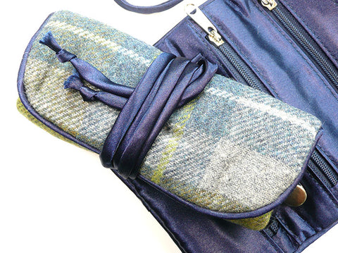 Jewellery Roll - Harbour Tweed