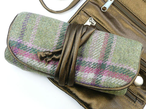Jewellery Roll - Moorland Tweed
