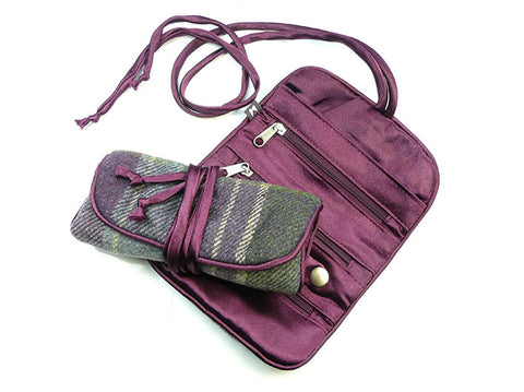 Jewellery Roll - Purple Quartz Tweed