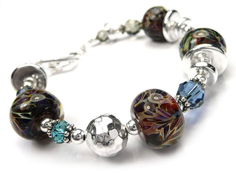 Lampwork Glass Bracelet - Nymph