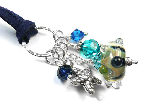 Lampwork Glass Pendant - Reef