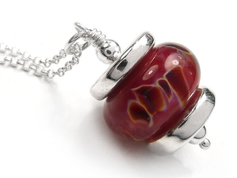 Lampwork Glass Pendant - Wild Berries