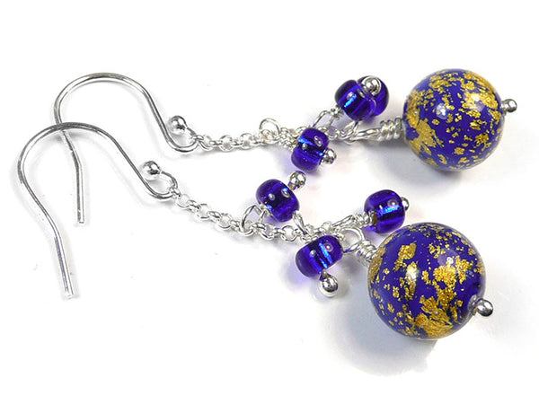 Murano Glass Bella Earrings - Electric Intenso