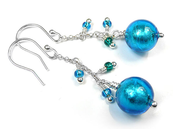 Murano Glass Bella Earrings - Turquoise