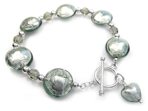 Murano Glass Bracelet - Black Diamond