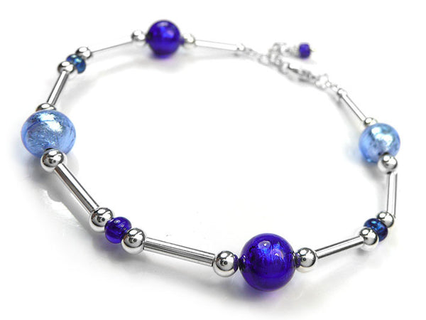 Murano Glass Bracelet - Blues
