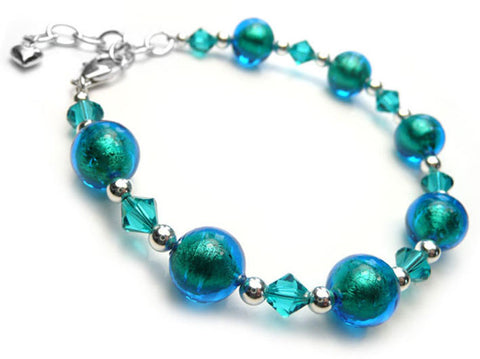 Murano Glass Bracelet - Kingfisher