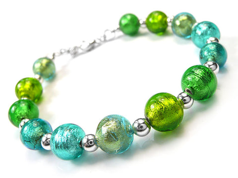 Murano Glass Bracelet - Shade of Green