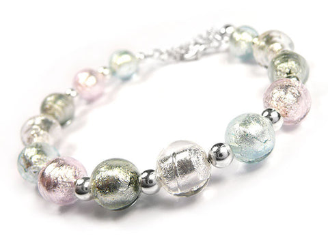 Murano Glass Bracelet - Shades of Pastel