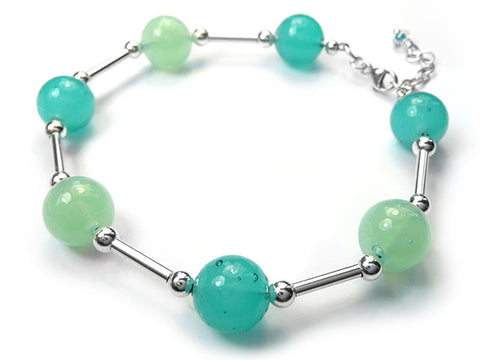 Murano Glass Bracelet - Teal and Aqua
