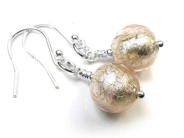 Murano Glass Earrings - Champagne