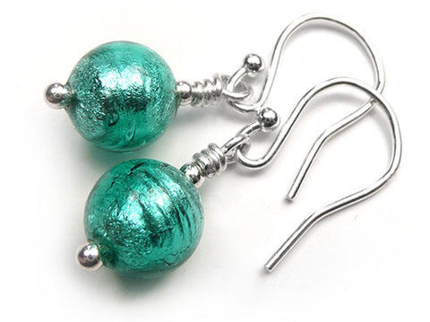 Murano Glass Earrings - Jade