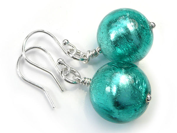 Murano Glass Earrings - Jade Large