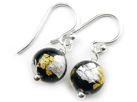 Murano Glass Earrings - Midnight