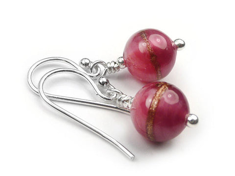 Murano Glass Earrings - Ruby Rose