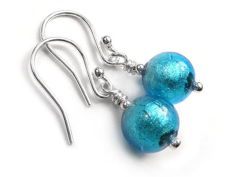 Murano Glass Earrings - Turquoise