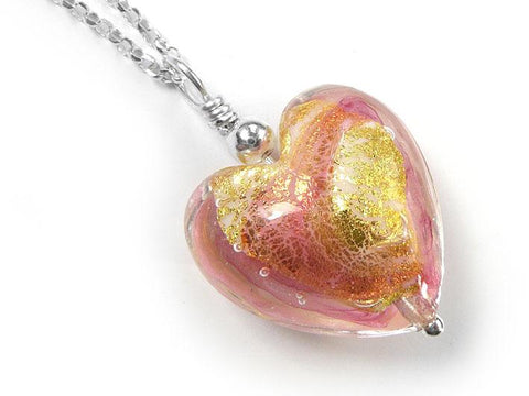 Murano Glass Heart Pendant - Dolce