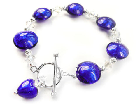 Murano Glass Bracelet - Electric