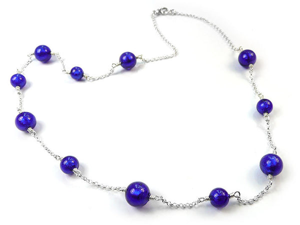 Murano Glass Necklace - Electric