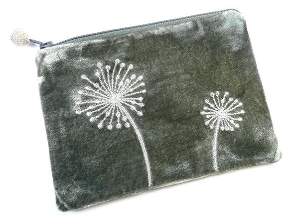 Purse - Alliums Velvet Grey