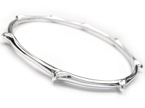 Silver Bangle - Beech Twig