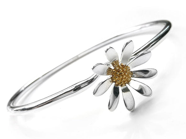 Silver Bangle - Daisy