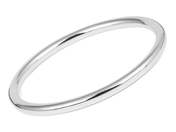 Silver Bangle - Oval