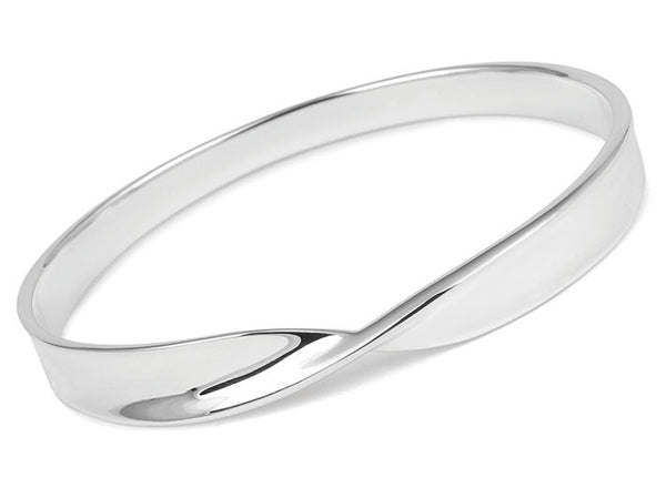 Silver Bangle - Simple Twist