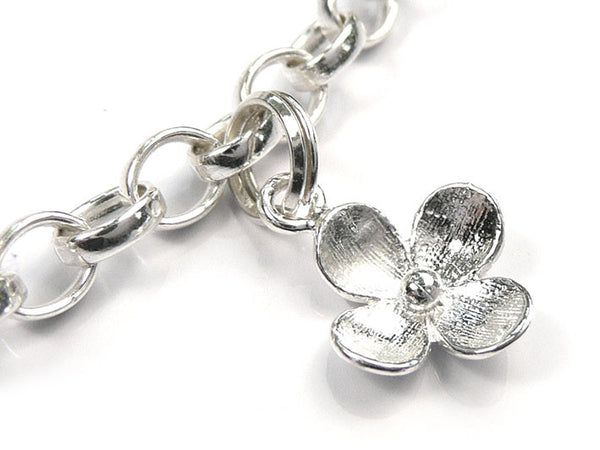 Silver Charms - Flower