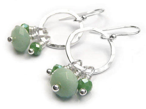 Silver Earrings - Amazonite