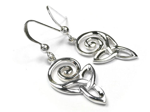 Silver Earrings - Celtic Spiral Knot