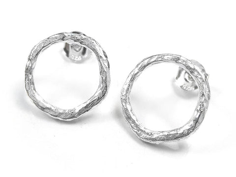Silver Earrings - Circle Studs