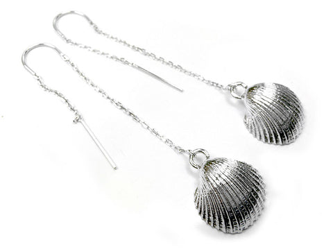 Silver Earrings - Clam Shell