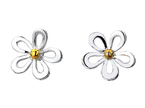 Silver Earrings - Crazy Daisy
