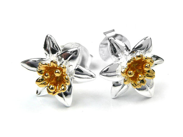Silver Earrings - Daffodils