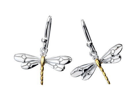 Silver Earrings - Dragonfly
