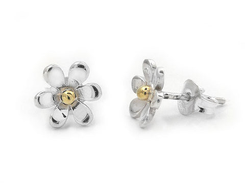 Silver Earrings - Flower Studs