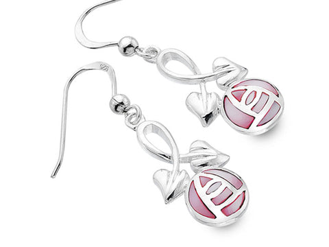 Silver Earrings - Mackintosh Rose